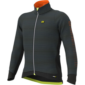 Alé Cycling Graphics PRR Thermo Road Jakke Herrer, black-fluo yellow